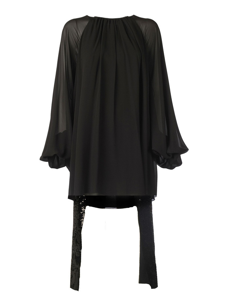 Saint Laurent Sequin Embroidered Dress in noir