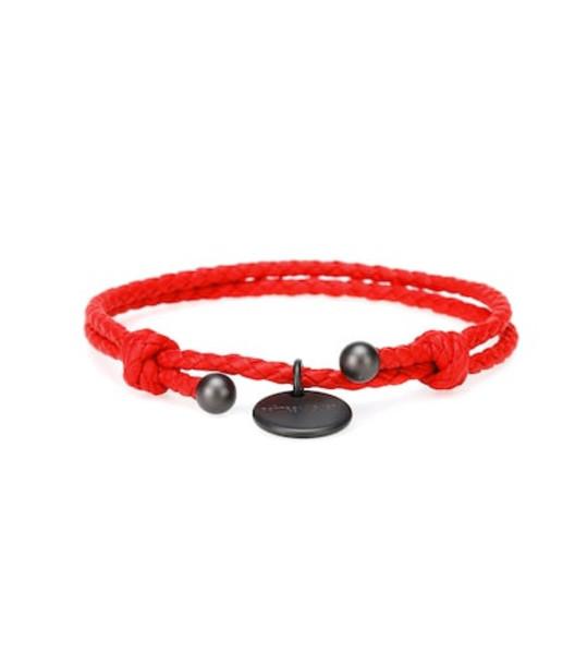 Bottega Veneta Intrecciato leather bracelet in red