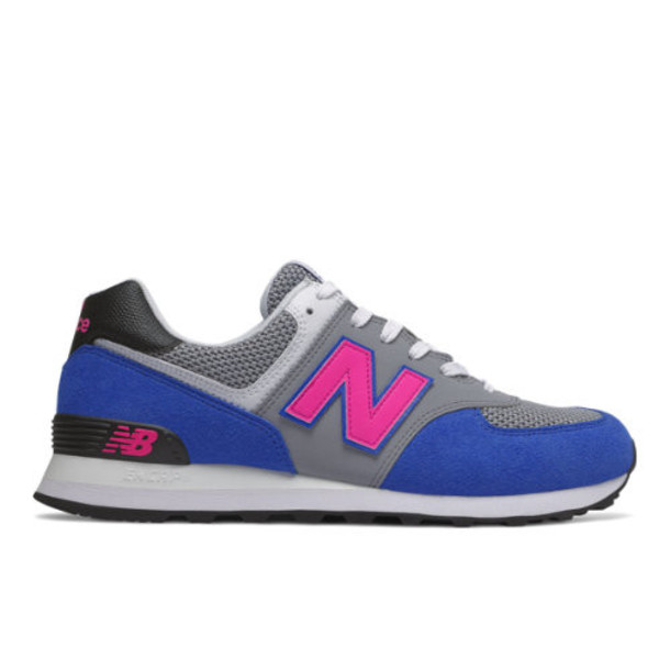 New Balance 574 Men's 574 Shoes - Blue/Pink (ML574PWA)
