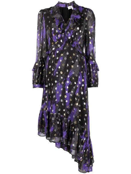 DVF Diane von Furstenberg Jill asymmetric dress in black