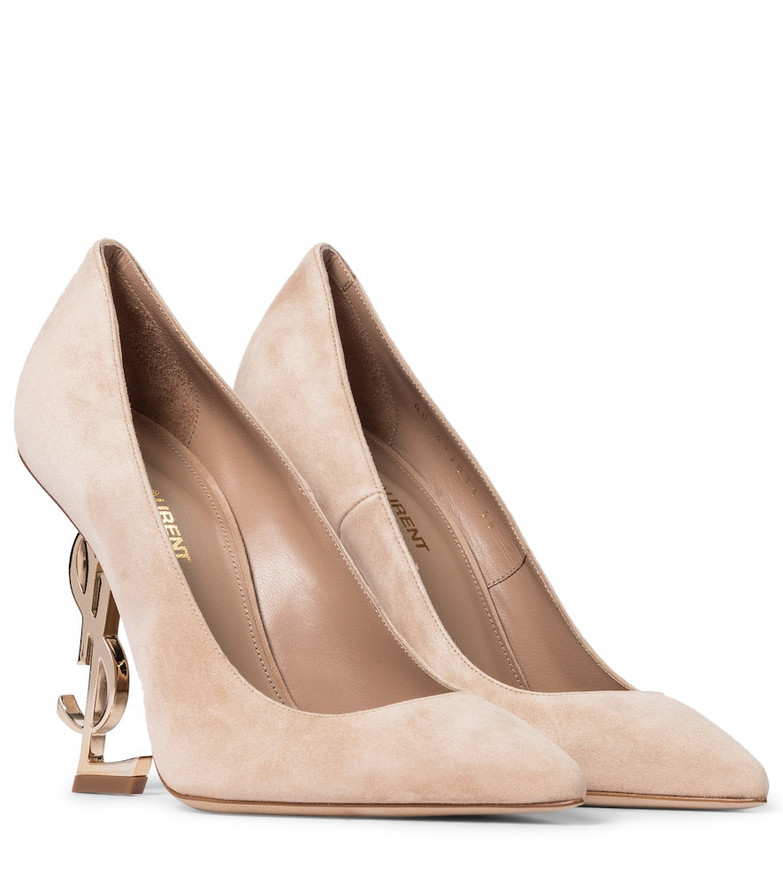 Saint Laurent Opyum 110 suede pumps in pink