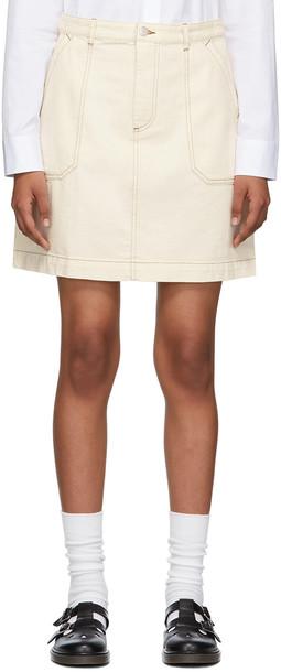 A.P.C. A.P.C. Off-White Denim Léa Skirt