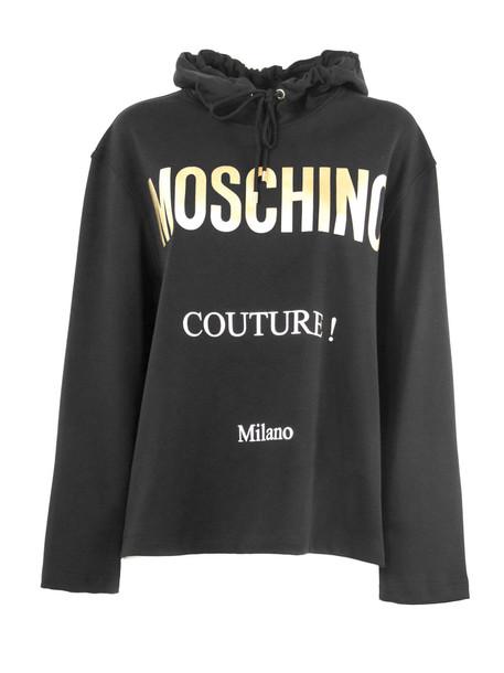 Moschino Black Cotton Hoodie