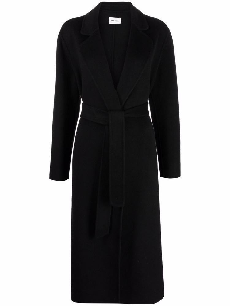 P.A.R.O.S.H. P.A.R.O.S.H. belted wool coat - Black