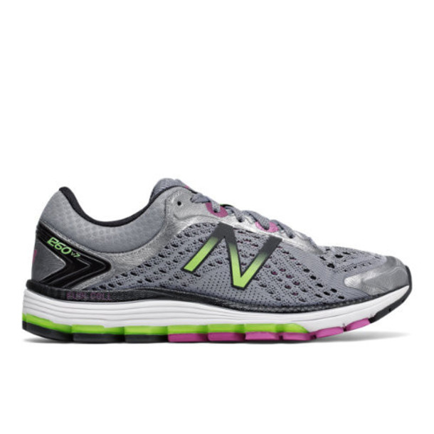 New Balance 1260v7 Women's Stability Shoes - Grey/Pink (W1260GP7)