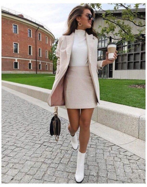 skirt pink cream jacket