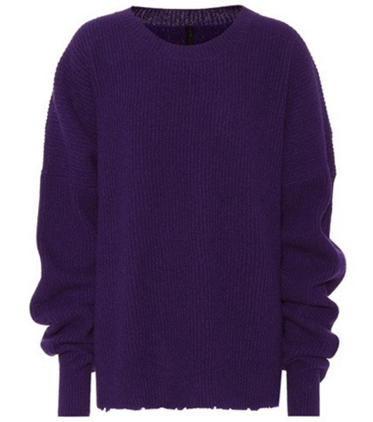 Unravel Wool and cashmere sweater in purple