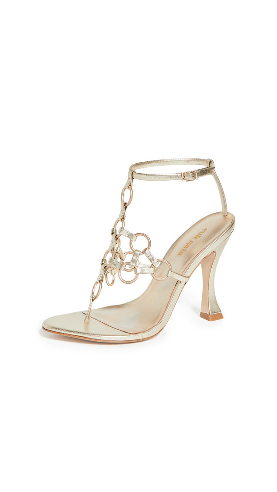 Cult Gaia Athena Heel Sandals in gold