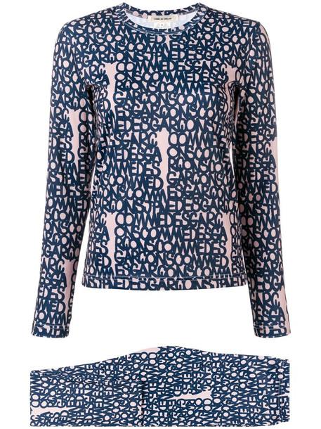 Comme Des Garçons logo printed sweatshirt in neutrals