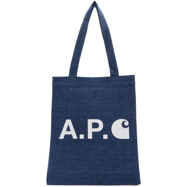A.P.C. A.P.C. Indigo Carhartt WIP Edition Tote