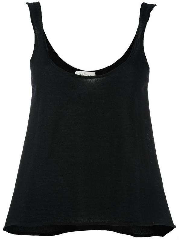 Le Kasha 'Hao' knit tank top in black