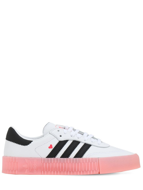 ADIDAS ORIGINALS Sambarose Leather Sneakers in rose / white