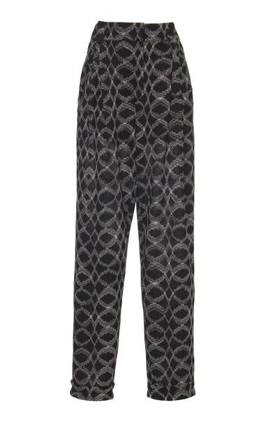 Missoni Printed Knit Straight-Leg Pants in black