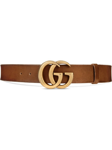 Gucci double G buckle belt in brown