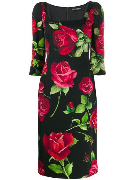 Dolce & Gabbana Dress in nero / rose