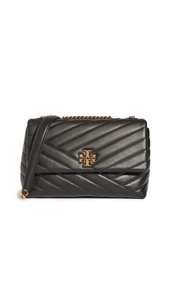 Tory Burch Kira Chevron Small Convertible Shoulder Bag in black