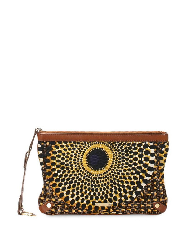 Burberry Pre-Owned printed clutch bag in brown