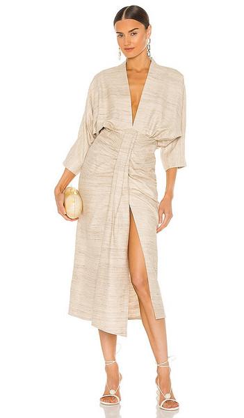 Piece of White Audrey Dress in Tan in beige