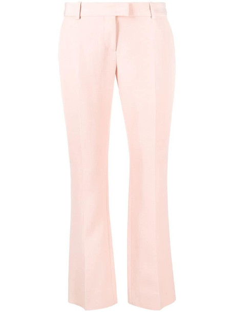 Ermanno Scervino cropped straight-leg trousers in pink