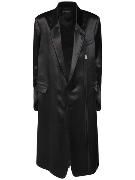 ANN DEMEULEMEESTER Viv Structured Satin Coat in black