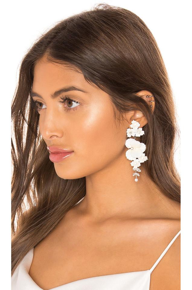 Jennifer Behr Sabine Earrings in white