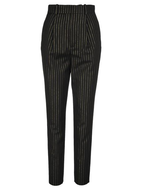 Saint Laurent High-waisted Metallic Stripe Trousers