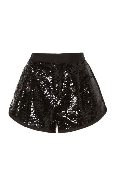 Dundas Sequin Mini Short in black