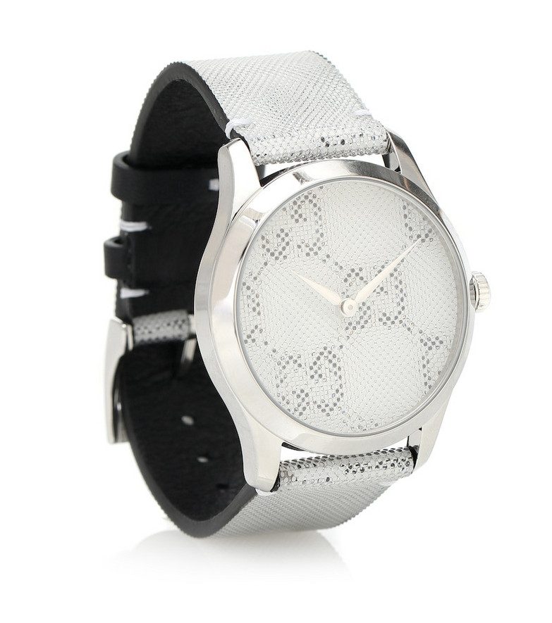 Gucci G-Timeless 38mm stainless steel watch in silver