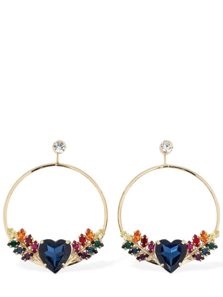 ANTON HEUNIS Heart Crystal Hoop Earrings