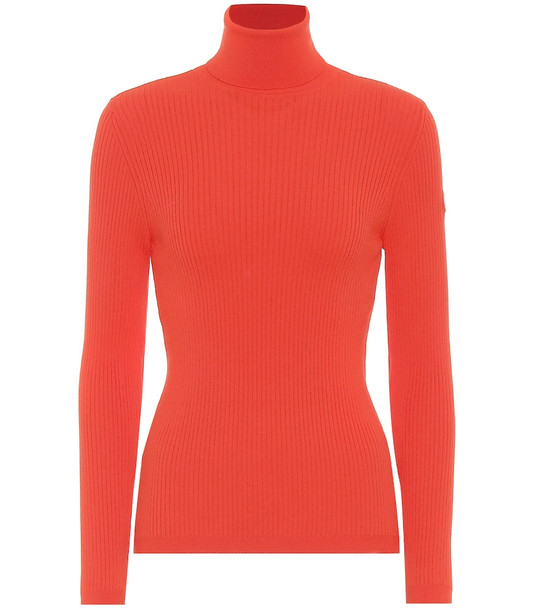Fusalp Ancelle ribbed-knit sweater in red
