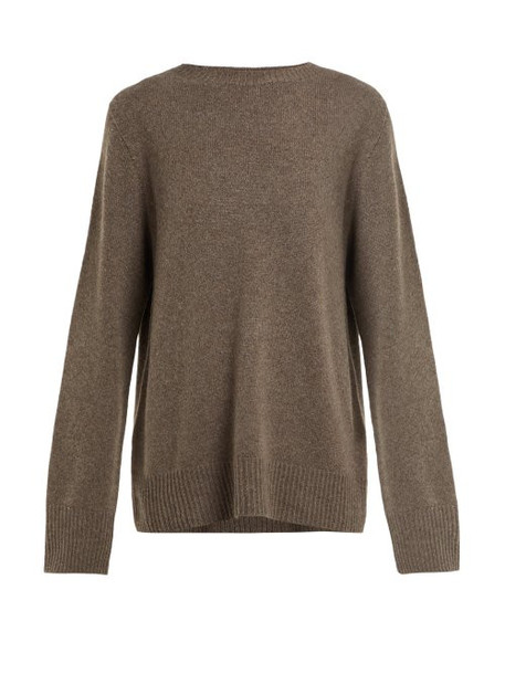 The Row - Sibel Wool And Cashmere Blend Sweater - Womens - Brown