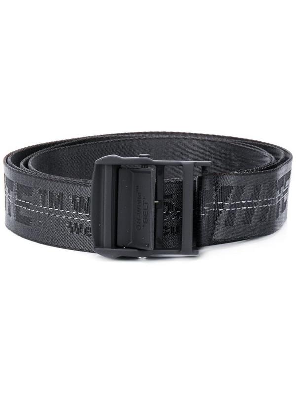 Off-White jacquard logo Industrial belt in black