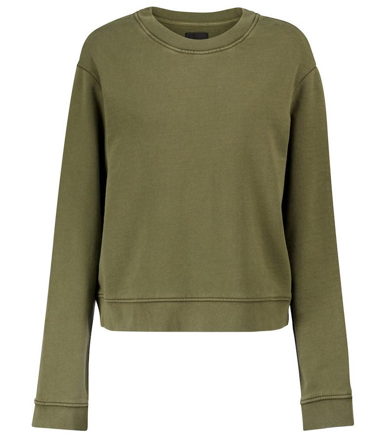 RtA Emilia cotton jersey sweatshirt in green
