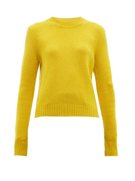 Bottega Veneta - Exaggerated Sleeve Cashmere Blend Sweater - Womens - Yellow