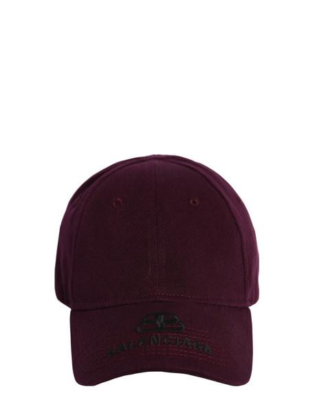 BALENCIAGA Bb Embroidered Logo Cotton Baseball Hat