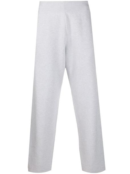 Barrie wide-leg trousers in grey