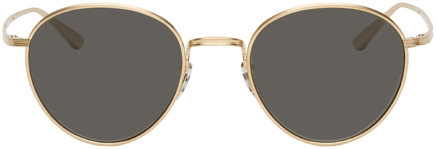 The Row Gold Oliver Peoples Edition Brownstone 2 Sunglasses in grey
