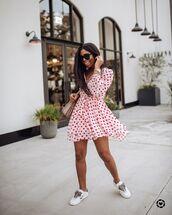 dress,mini dress,white dress,long sleeve dress,white sneakers,bag
