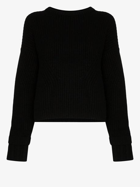 Le Kasha Corse cashmere knit sweater in black