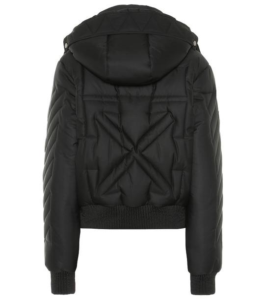 Off-White Padded bomber jacket in black