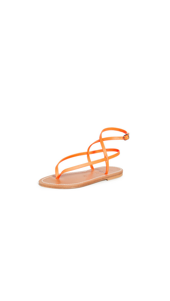 K. Jacques Delta Thong Sandals in orange