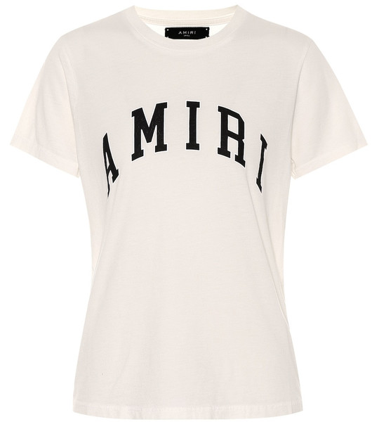 Amiri College cotton-jersey T-shirt in white