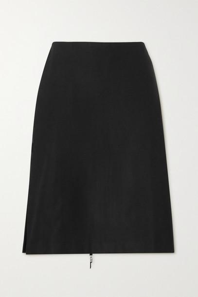 IOANNES - Irene Zip-detailed Twill Skirt - Black