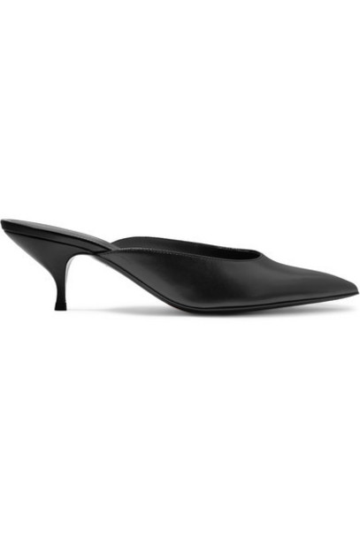 Bottega Veneta - Leather Mules - Black