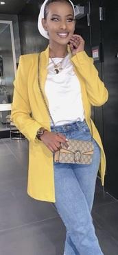 coat,blazer,yellow coat