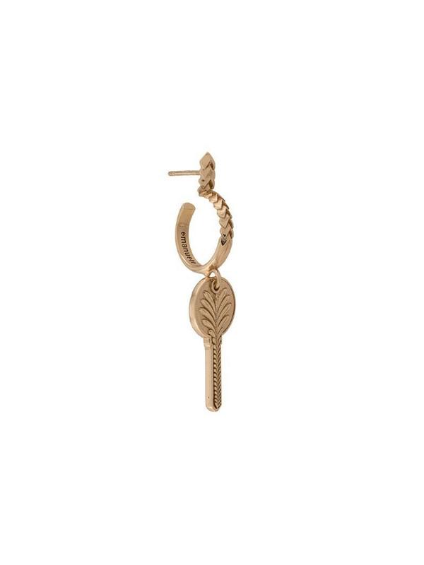 Emanuele Bicocchi key earrings in gold