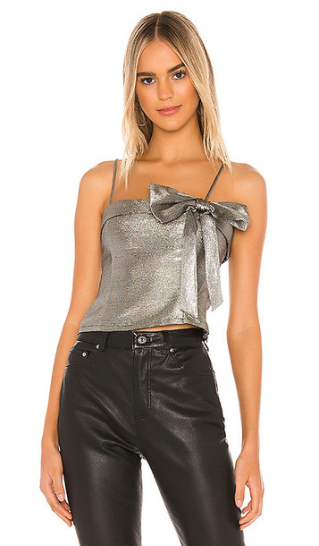 Lovers + Friends Lovers + Friends Ares Top in Metallic Silver