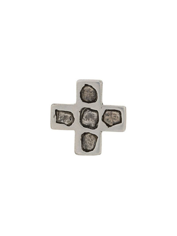 Parts of Four Plus Mega Pavé 12mm earring in silver