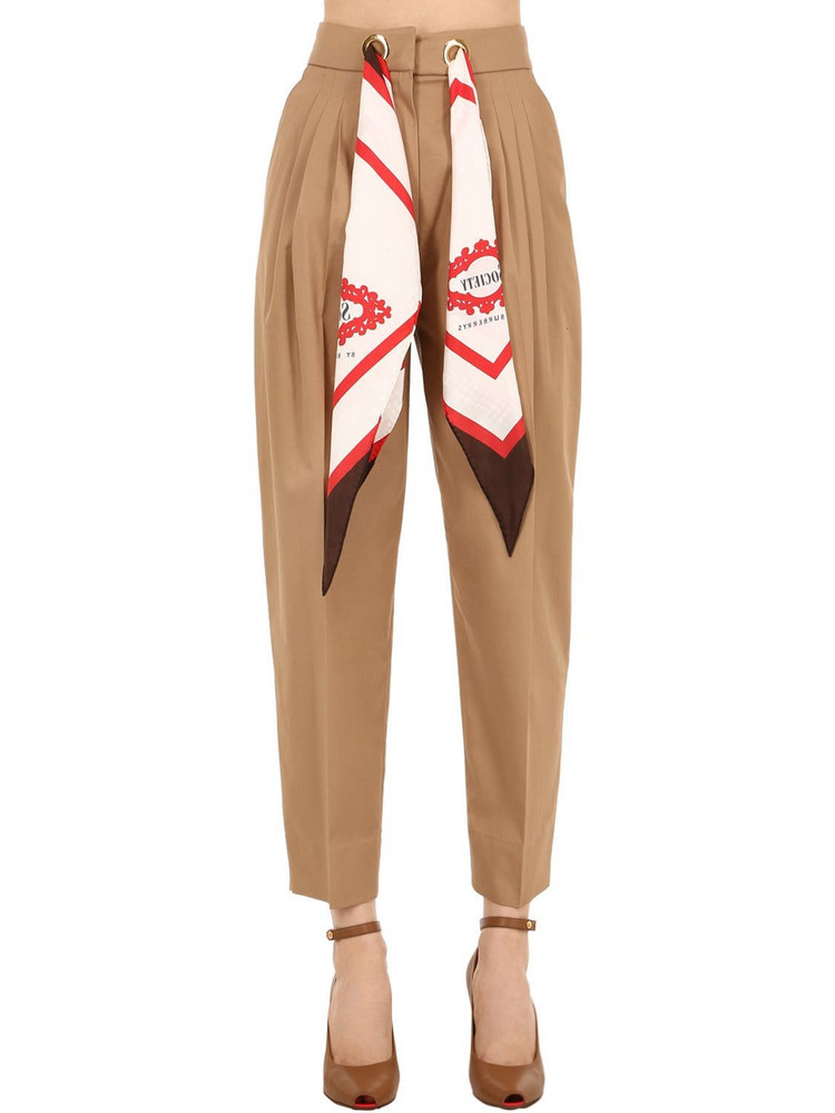 BURBERRY Cotton & Silk Pants