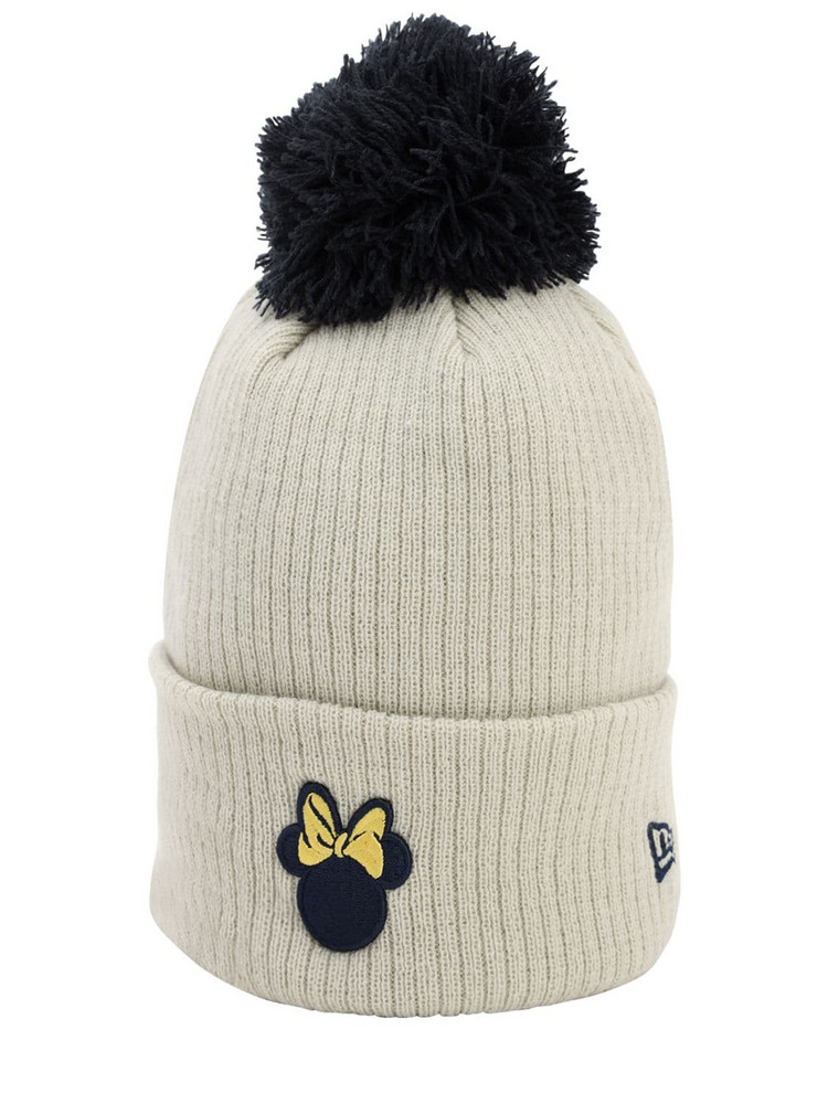 NEW ERA Disney Techno Knit Beanie in white